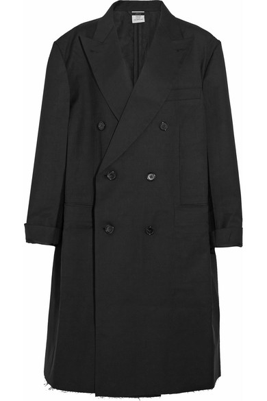Vetements - Brioni Oversized Double-breasted Wool Coat - Black