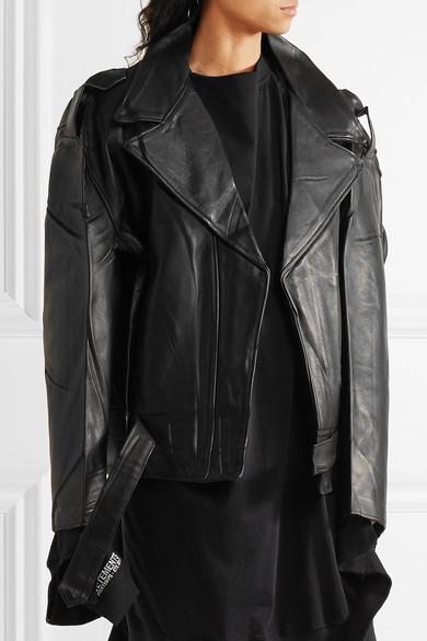 0c346b8ec + Schott Perfecto oversized leather biker jacket