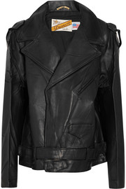 + Schott Perfecto oversized leather biker jacket