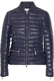 Moncler Buglose quilted leather down jacket