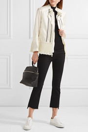 Mimet crochet-trimmed shell down jacket
