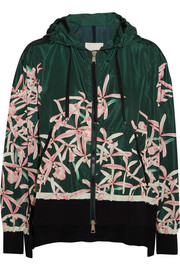 Moncler Comte hooded floral-print shell jacket