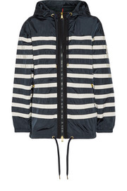 Moncler Hooded striped shell jacket