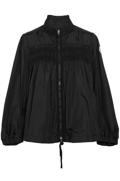 109a156669 Ruffled shirred shell jacket