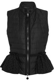 Moncler Valensole broderie anglaise-trimmed quilted cotton down gilet