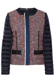 Ossau tweed and quilted shell down jacket