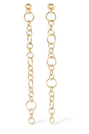 Selene gold-plated earrings