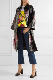 Miu Miu Oversized sequin-embellished faux patent-leather coat