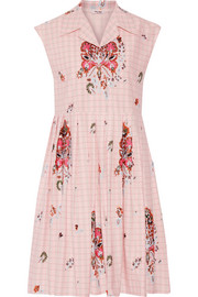 Embellished cotton-jacquard dress