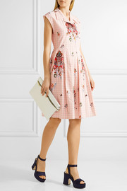 Miu Miu Embellished cotton-jacquard dress