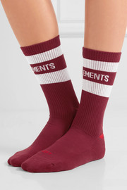 + Reebok intarsia cotton-blend socks