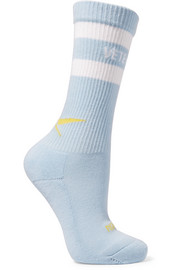 + Reebok intarsia stretch cotton-blend socks