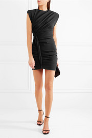 Ruched crepe mini dress