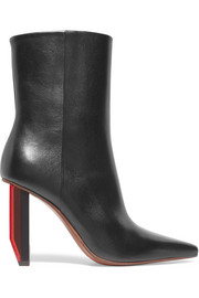 Vetements Glossed-leather ankle boots