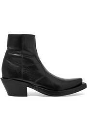Vetements + Lucchese leather ankle boots