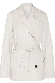Cotton-blend poplin trench coat