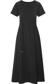 Lemaire Belted cotton-jersey midi dress