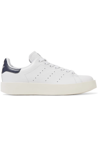 032be772d29 adidas Originals. Stan Smith leather platform sneakers