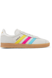 adidas Originals Gazelle leather-trimmed nubuck sneakers