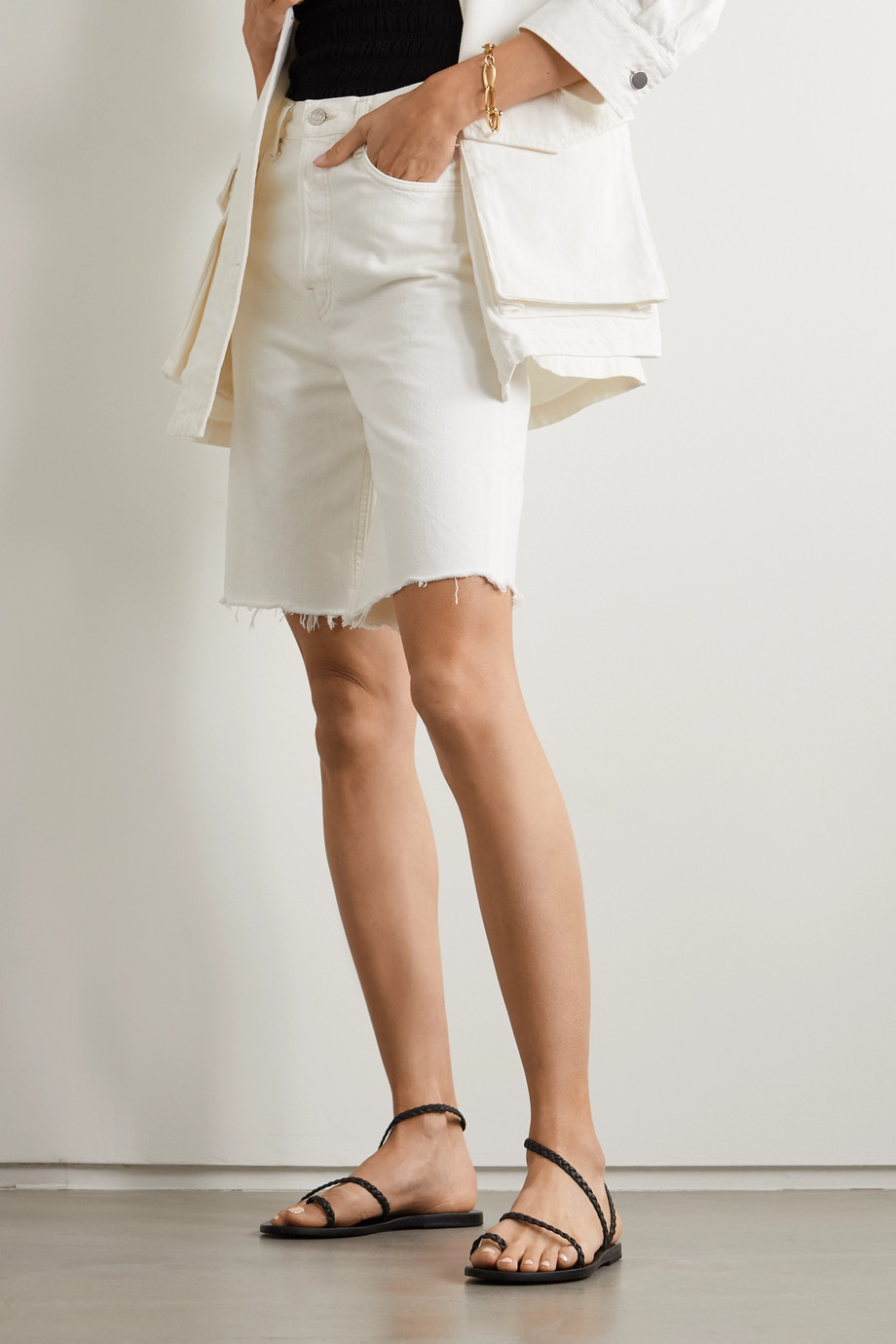 Ancient Greek Sandals Eleftheria 麻花编织皮革凉鞋