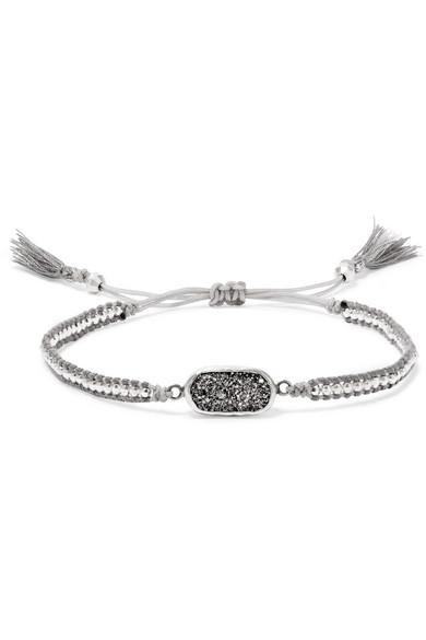 Chan Luu - Silver, Druzy Agate Bracelet