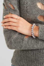 Chan Luu Leather, pearl and shell bracelet
