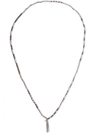 Silver multi-stone necklace