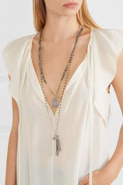 Chan Luu Silver multi-stone necklace
