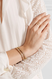 Chan Luu Gold-plated beaded wrap bracelet