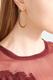 Chan Luu Gold-tone enameled hoop earrings