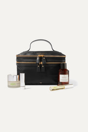 Anya Hindmarch Vanity Kit leather-trimmed cosmetics case