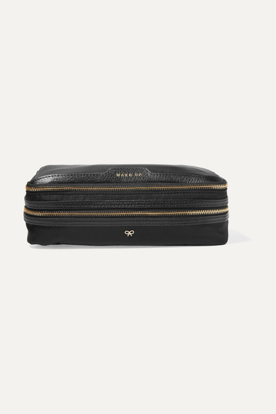 Anya Hindmarch - Make Up Leather-trimmed Shell Cosmetics Case - Black