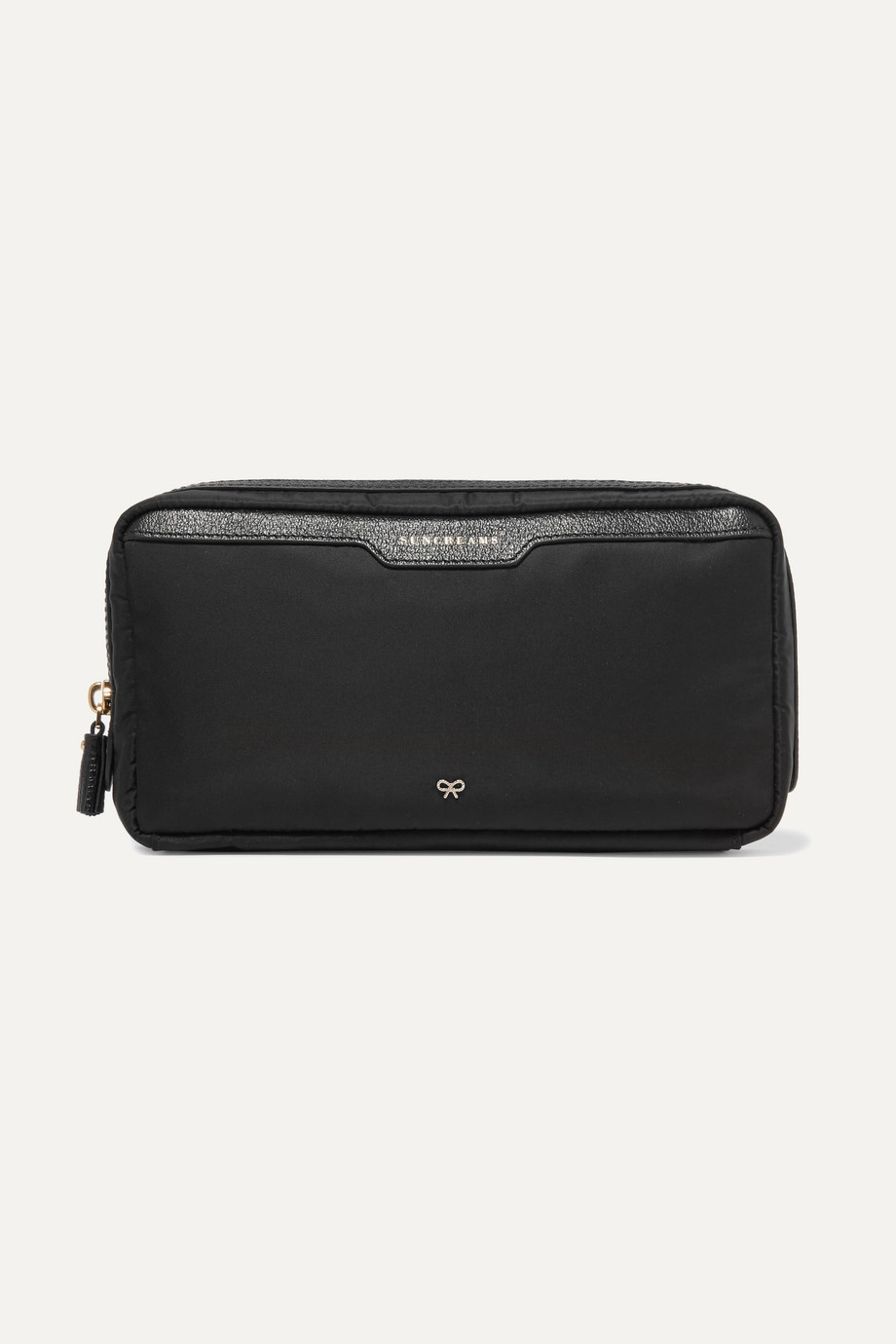 Anya Hindmarch Suncreams leather-trimmed shell cosmetics case