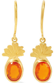 Marie-Hélène de Taillac Precious Pineapple 22-karat gold opal earrings