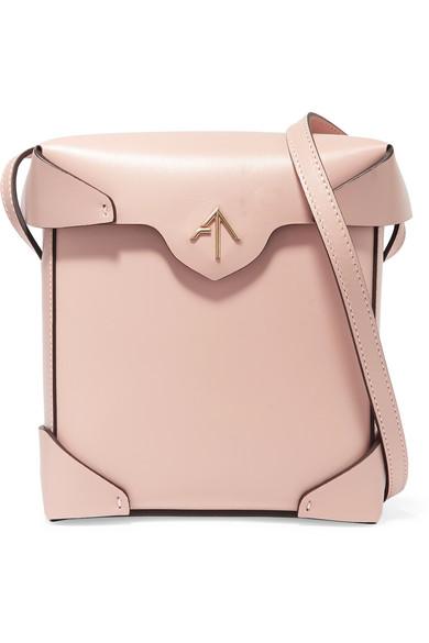manu atelier female manu atelier pristine mini leather shoulder bag pink