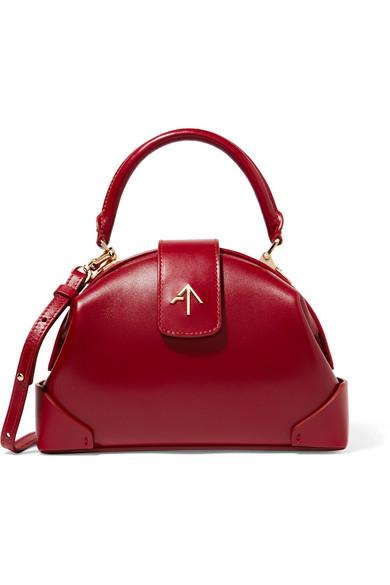 manu atelier female manu atelier demi mini leather shoulder bag claret