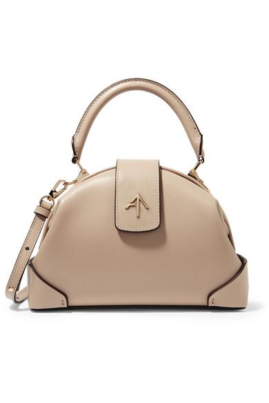 manu atelier female manu atelier demi mini leather shoulder bag beige