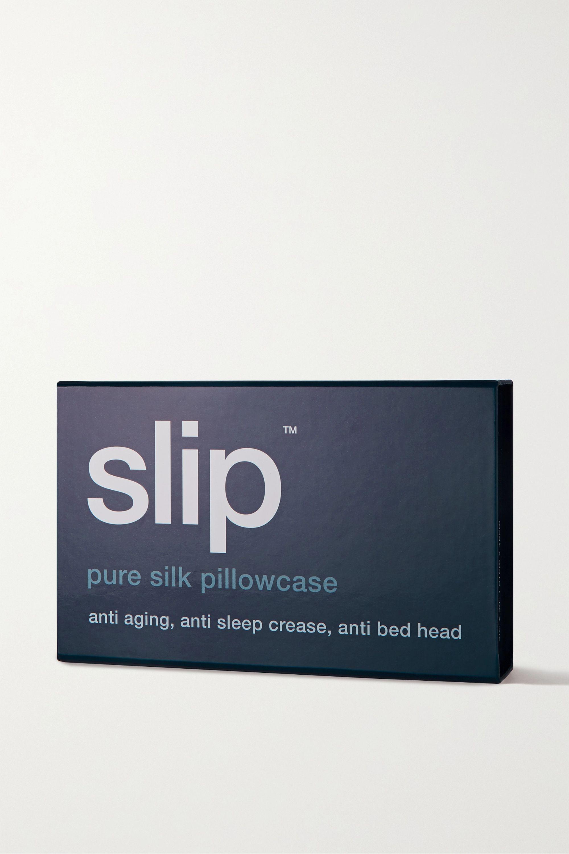 Slip Embroidered silk queen pillowcase
