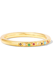 Gold-plated multi-stone ring