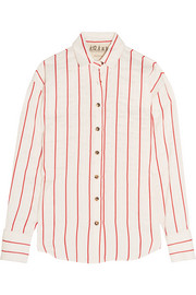 Oversized striped jacquard shirt