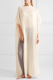Canal ribbed cashmere kaftan