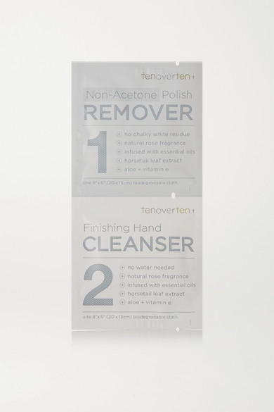 TENOVERTEN Non-Acetone Polish Remover + Finishing Hand Cleanser Cloths - One Size in Colorless