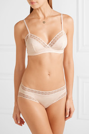 Love Story lace-trimmed stretch-cotton soft-cup triangle bra