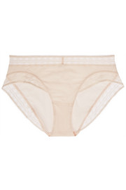 Love Story lace-trimmed stretch-cotton briefs