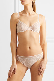 Camomille stretch-lace underwired bra