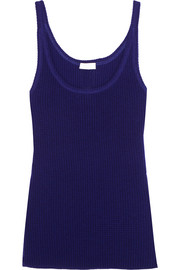 Eres Futile waffle-knit wool and cashmere-blend tank