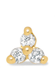 Tiny 18-karat gold diamond earring