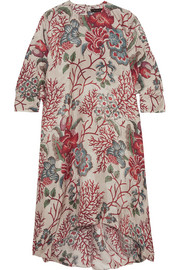 Aleincoral printed silk crepe de chine dress