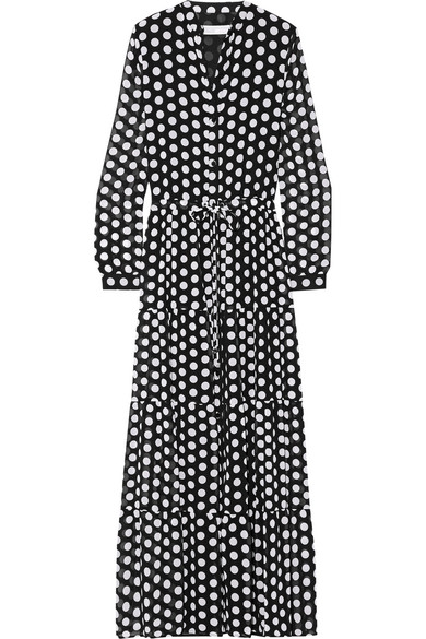 Polka-dot long dress MICHEL KLEIN Free Shipping 100% Original Manchester Cheap Online Outlet Order Online New Arrival Cheap Online Nahry
