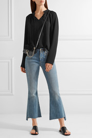 MICHAEL Michael Kors Embroidered textured-crepe blouse